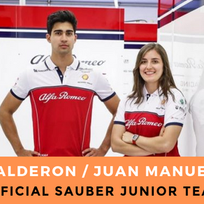 Tatiana Calderon and Juan Manuel Correa lined up for F1 tests