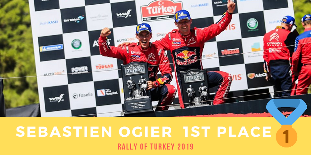 Our Citroën driver Sébastien Ogier won Rally of Turkey