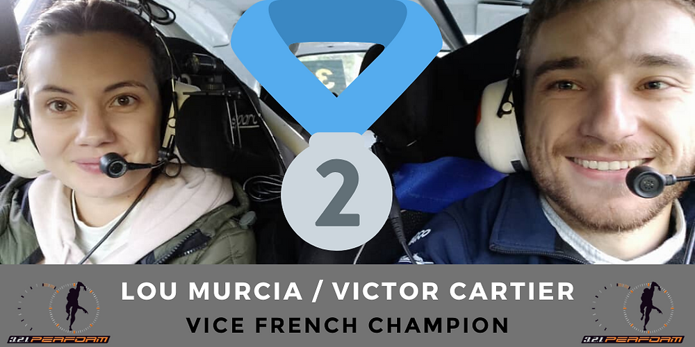 End of the French Rally Junior Championship for our drivers Lou Murcia (Co Driver) and Victor Cartier (Driver) with a title of Vice Champion of France.