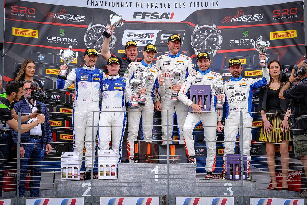podium gt4  circuit nogaro fabien michal pilote 321 perform