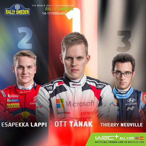 Sweden Rallye - 2nd place for Our Finnish Pilot Esapekka Lappi