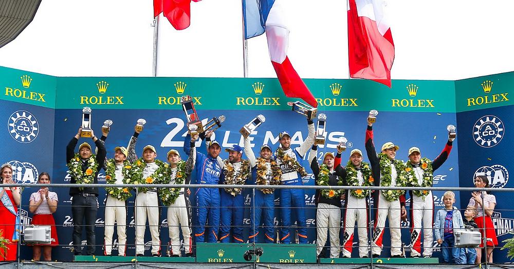 Podium LMP2 24H of Le Mans Drivers 321 Perform TDS Racing Jacky CHan DC Racing