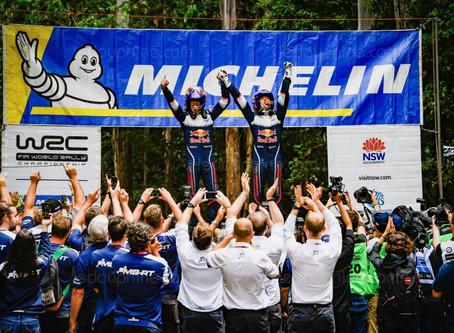 Sébastien Ogier remporte en Australie son 6e titre de champion du monde des rallyes WRC !