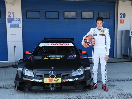 Notre pilote Esteban Ocon aux essais Mercedes en DTM