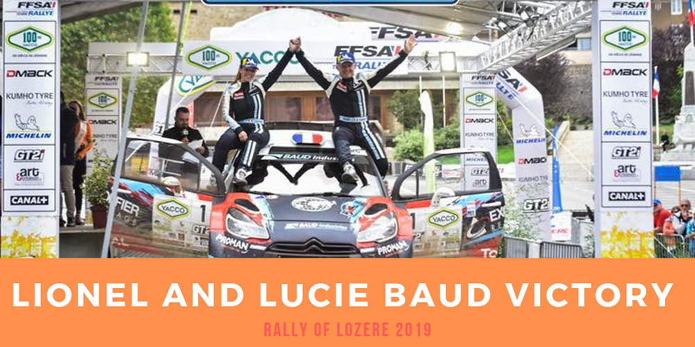 Victory for our drivers Lucie and Lionel Baud
