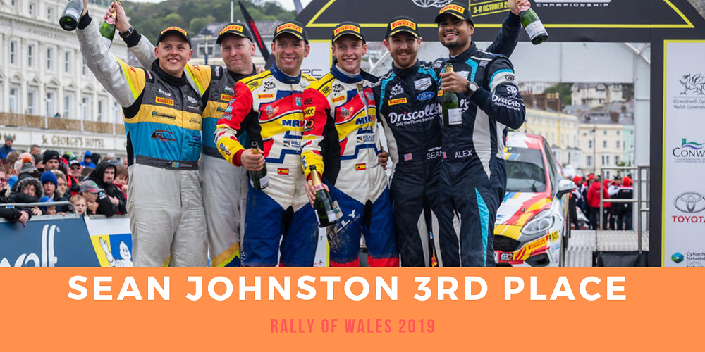 Sean Johnston 321 Perform driver takes a 3rd place in Wales for the WRC junior