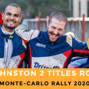 MONTE-CARLO RALLY : DOUBLE VICTORY FOR SEAN JOHNSTON !!