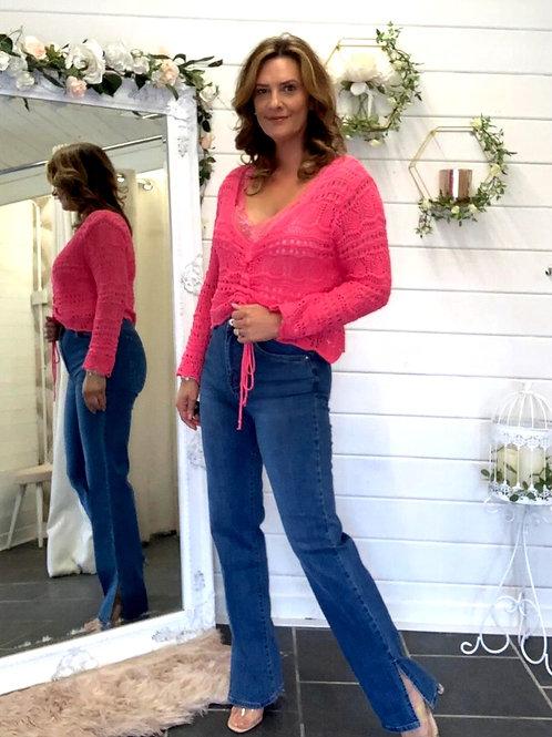 Pink crochet top