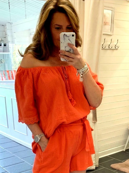 Corina Orange Top