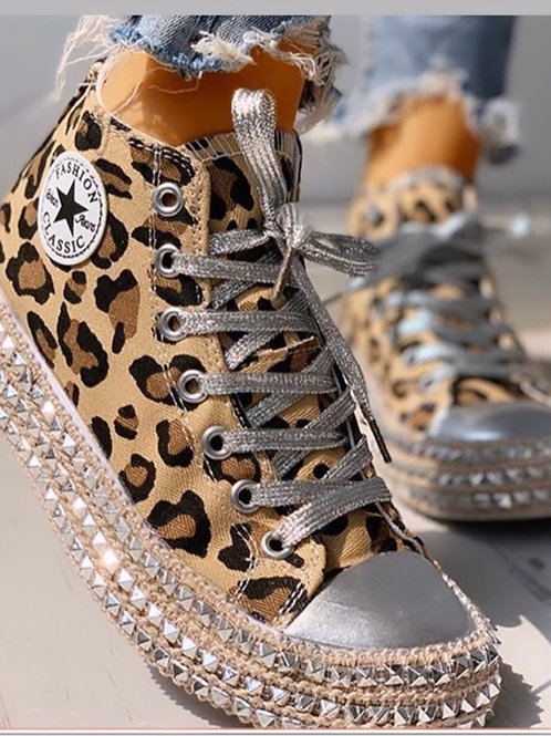 Leopard Print Converse high tops