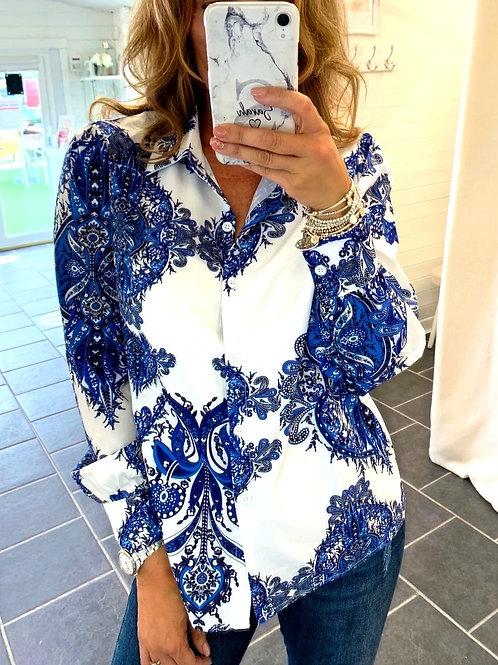 PAISLEY PRINT BLUE SHIRT