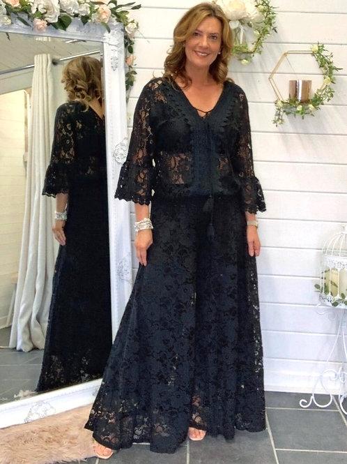 Black lace 2-piece set