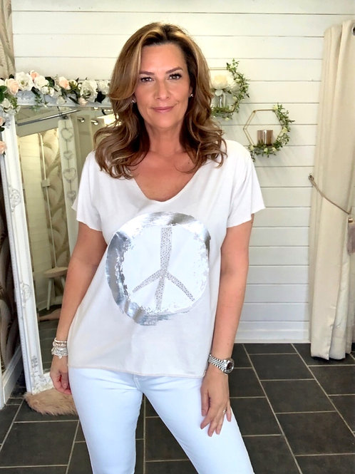 Beige Peace T-Shirt