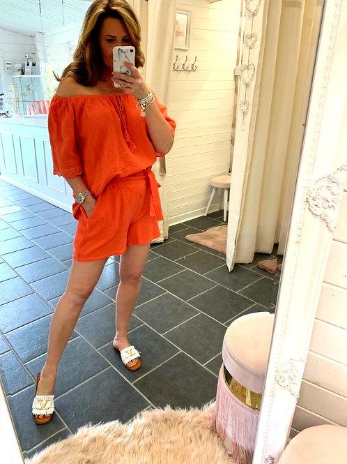 Corina Orange Shorts