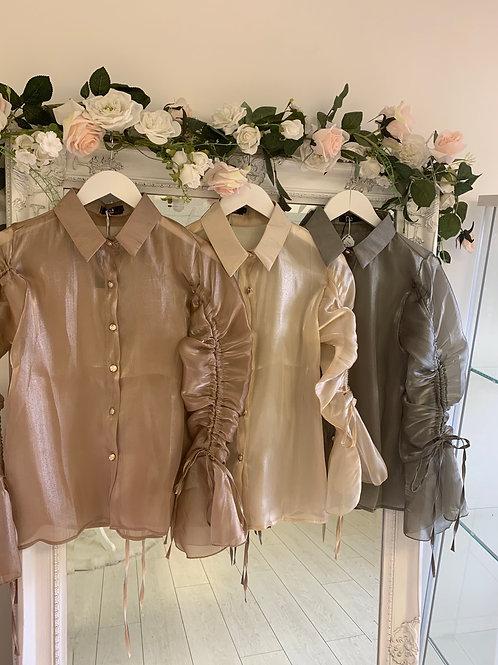 Khaki lottie blouse