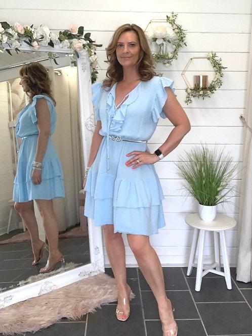 Blue frill dress