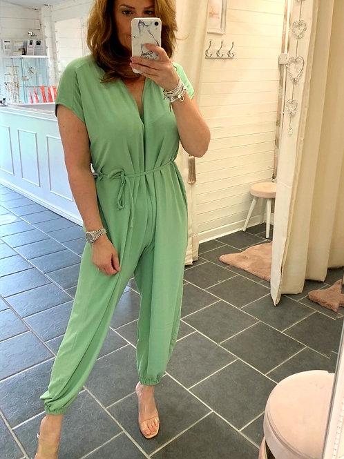 Macey Green Jumpsuit