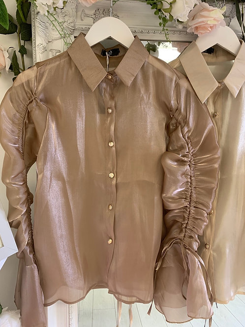 Taupe Lottie blouse