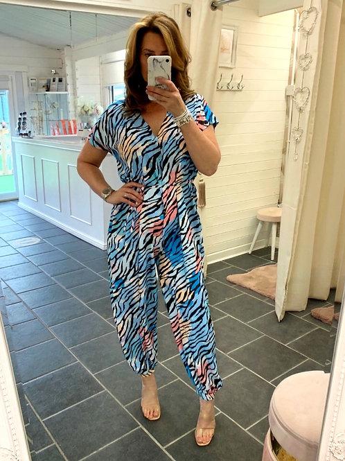 Macy  Zebra Print Jumpsuit