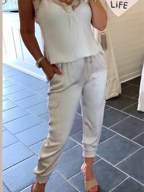 Beige Combat Trouser