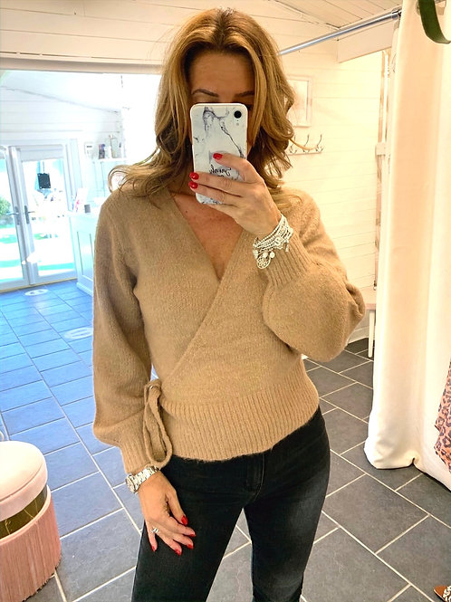 Knitted Wrap Jumper