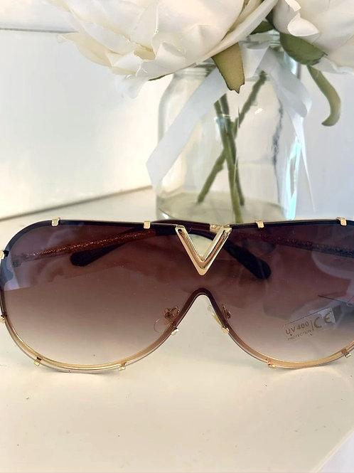 V glasses (Brown tint)