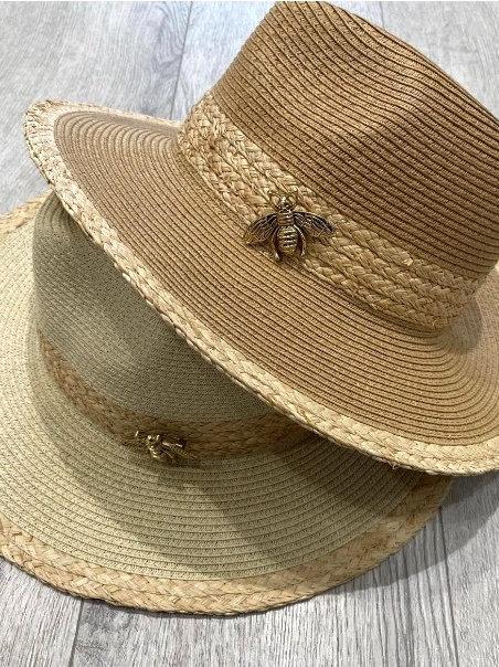 Dark Beige Bee Hat