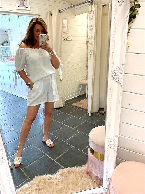 Corina White Shorts