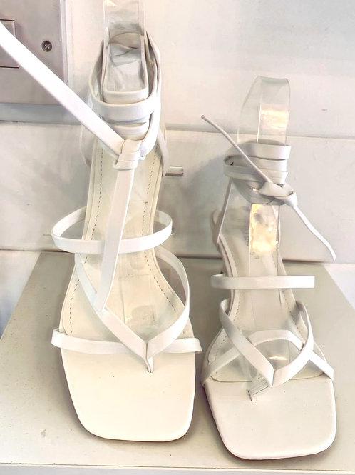 White strap on sandal