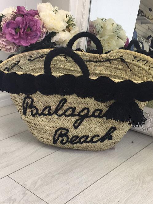 Black Balagan Beach Bag
