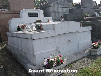 Caveau familial avant rénovation complète