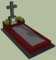 Monument funéraire original inox jardiniere