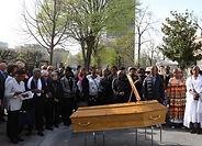 Mémorial autonome pour cérémonie cimetière