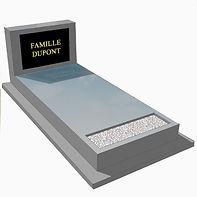 Monument funéraire avec soubassement et jardiniere
