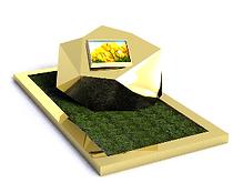 Monument funéraire original inox couleur