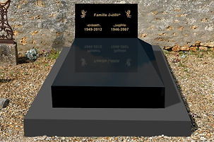 Habillage d'une tombe couleur noir