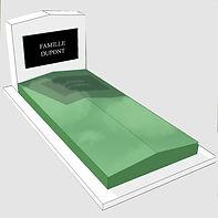 Monument funéraire avec soubassement