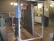 Préparation monument funéraire avant mise en peinture