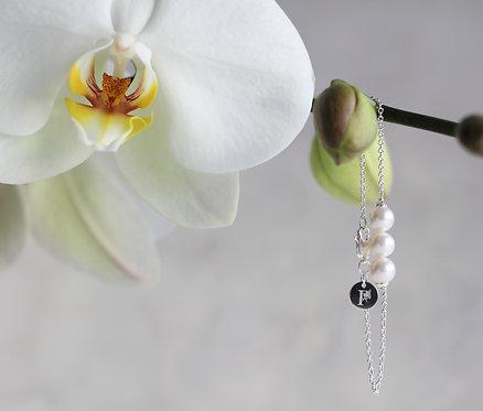 Pixie Shine Silver Bracelet - 3 Pearl Silver Bracelet