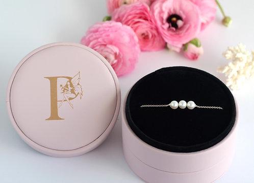 Pixie 3 Pearl Silver Bracelet