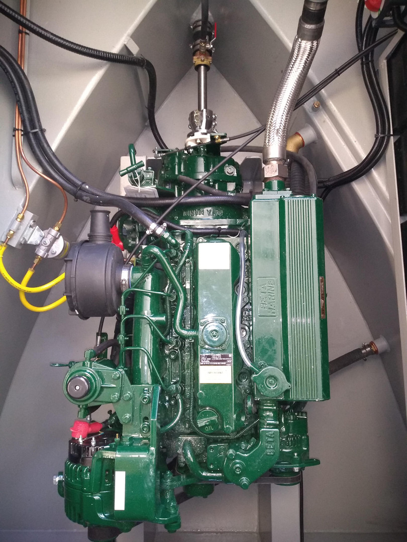 Beta Marine 43hp engine with PRM 150 gearbox