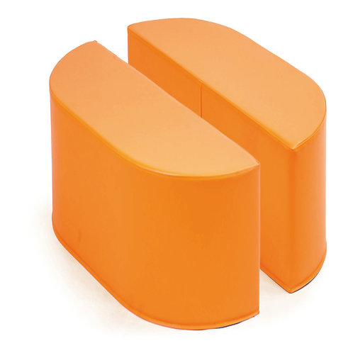 Pufi oranžā krāsā 2 gb. 30x92x30cm NS1745