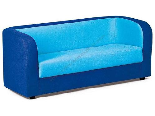 Dīvāns zils ar gaiši zilu 120x60x55cm NS1012