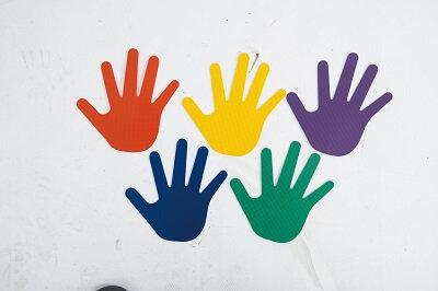 Krāsaini plaukstu nospiedumi 6 pāri TY0073