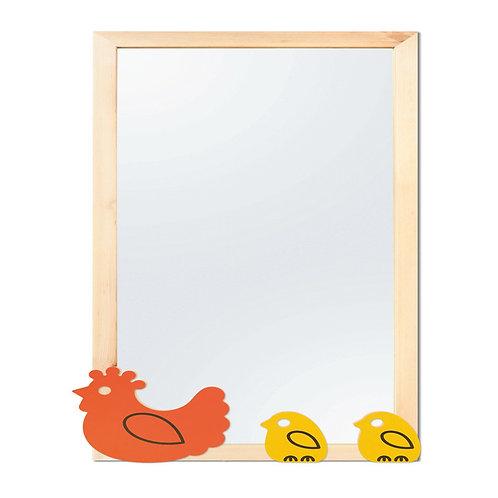 """Dekoratīvais elements spogulim """"Vista ar cālīšiem"""""""
