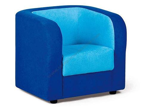 Klubkrēsls zils ar gaiši zilu 50x60x55cm NS1013
