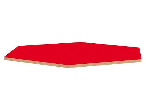 Sešstūrveida krāsainas galda virsmas Ø138cm
