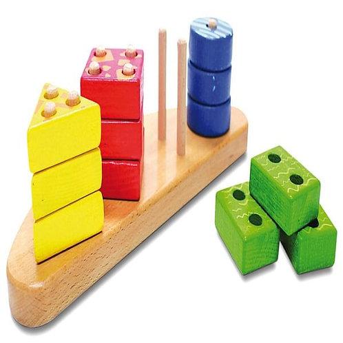 """Koka Attīstošā Rotaļlieta """"4 Figūras"""" NS0153"""