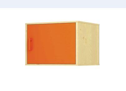 """Mazais sienas plaukts ar durvīm """"Svaigi oranžs"""""""