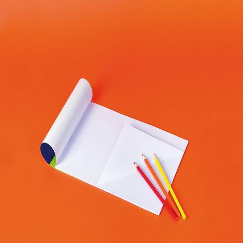 A3 zīmēšanas bloks 10 lpp. balta papīra TM2042